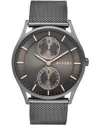 Skagen - Skw6180 Men's Holst Chronograph Stainless Steel Mesh Bracelet Strap Watch - Lyst