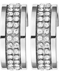 Dyrberg/Kern - Kimmie Swarovski Crystal Hoop Earrings - Lyst
