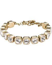 Dyrberg/Kern | Dyrberg/kern Conian Gold Single Crystal Bracelet | Lyst