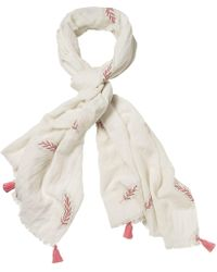 White Stuff - Embroidered Scarf - Lyst