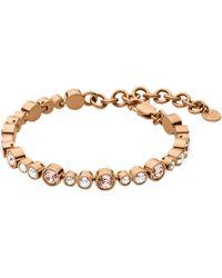 Dyrberg/Kern - Round Swarovski Crystals Tennis Bracelet - Lyst