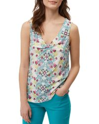 White Stuff - Lupin Knot Front Jersey Vest - Lyst
