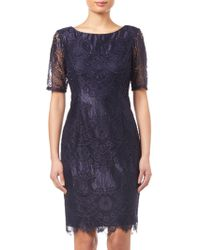 Adrianna Papell - Lace Dress - Lyst