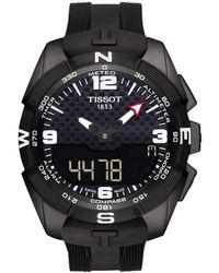 Tissot - T0914204705701 Men's T-touch Expert Solar Chronograph Altimeter Rubber Strap Watch - Lyst