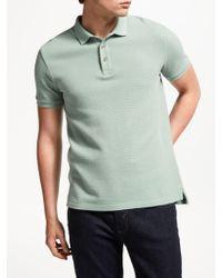 John Lewis - Textured Cotton Polo Shirt - Lyst