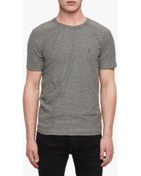 AllSaints - Raphael Stripe Crew Neck Reversible T-shirt - Lyst