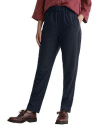 Toast - Wool Blend Pinstripe Trousers - Lyst