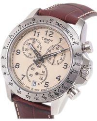 Tissot - Tisootv8 T1064171626200 Ivory Brown Leather Analog Quartz Watch - Lyst