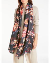 Modern Rarity - Archive Floral Wool Silk Blend Scarf - Lyst