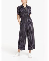 Finery London - Alida Wide Leg Stripe Jumpsuit - Lyst