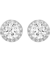 Swarovski - Angelic Round Crystal Stud Earrings - Lyst