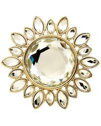 Monet - Crystal Sunburst Brooch - Lyst