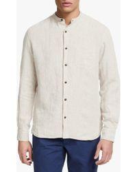 John Lewis - Livingston Linen Grandad Collar Shirt - Lyst
