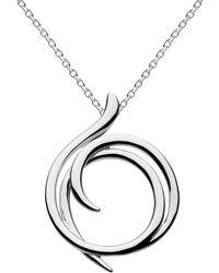 Kit Heath | Sterling Silver Cubic Zirconia Helix Wrap Necklace | Lyst
