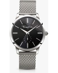 Thomas Sabo - Wa0152-201-203-42 Men's Rebel Spirit Mesh Bracelet Strap Watch - Lyst