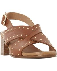 Bertie - Indygo Studded Strap Block Heel Sandals - Lyst