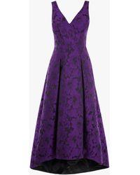 Coast - Purple 'tizzy' Jacquard Dress - Lyst