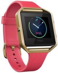 Fitbit - Blaze Gunmetal Wireless Activity And Sleep Tracking Smart Fitness Watch - Lyst