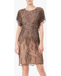 Adrianna Papell - Short Beaded Sheath Cocktail Dress - Lyst