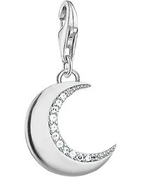 Thomas Sabo - Charm Club Cubic Zirconia Crescent Moon Charm - Lyst