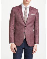 John Lewis - Wool Silk Linen Basketweave Tailored Blazer - Lyst