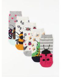 John Lewis - Bug Trainer Socks - Lyst