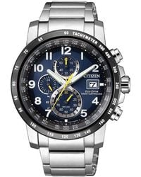 Citizen - At8124-91l Men's Chronograph Tachymeter Date Eco-drive Bracelet Strap Watch - Lyst