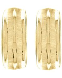 John Lewis - Ibb 9ct Gold Half Band Earrings - Lyst