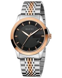 26060dc1eb1 Gucci - Ya126410 Men s G-timeless Two Tone Date Bracelet Strap Watch - Lyst