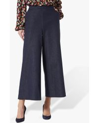 L.K.Bennett - Emil Wide Leg Denim Trousers - Lyst