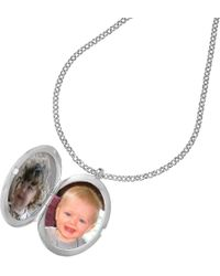 John Lewis - Dower & Hall Large Sterling Silver Large Round Sapphire Locket - Lyst