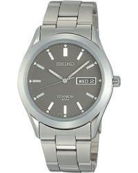 Seiko | Sgg599p1 Men's Analogue Titanium Bracelet Strap Watch | Lyst