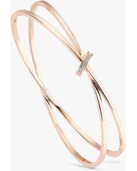 Karen Millen - Swarovski Crystal Interlinked Double Slim Bangle - Lyst