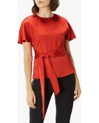 c0824a18b7e3c Ted Baker Maidai Playful Poppy Woven Top in White - Lyst