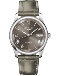 Longines | L27934713 Men's Master Collection Automatic Date Leather Strap Watch | Lyst