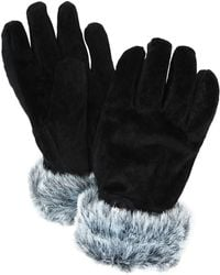 John Lewis - Faux Fur Trim Suede Gloves - Lyst
