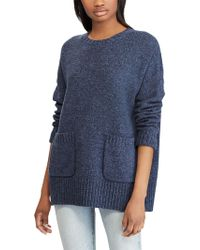 Ralph Lauren - Polo Wool Blend Patch Pocket Textured Jumper - Lyst