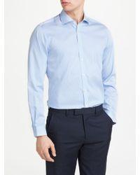 John Lewis - Non Iron Bengal Stripe Slim Fit Shirt - Lyst