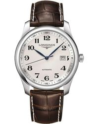 Longines | L27934783 Men's Master Collection Automatic Date Alligator Leather Strap Watch | Lyst