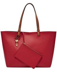 Fossil - Rachel Leather Tote Bag - Lyst
