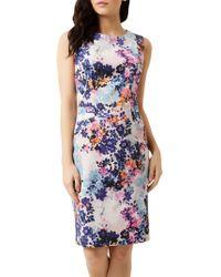 Fenn Wright Manson Athena Animal Print Dress in Blue - Lyst 69b63e7e2