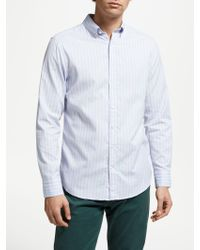 GANT - Windblown Stripe Regular Oxford Shirt - Lyst
