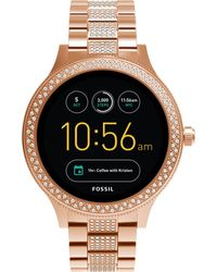 Fossil - Q Ftw6008 Women's Venture Bracelet Strap Touchscreen Smartwatch - Lyst
