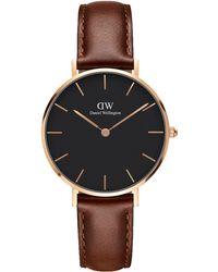 Daniel Wellington - Women's Petite Leather Strap Watch - Lyst
