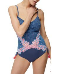 White Stuff - Paisley Print Placement Swimsuit - Lyst