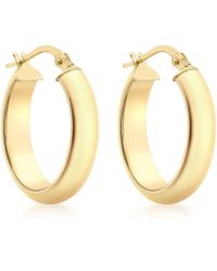 John Lewis - Ibb 9ct Yellow Gold Polished Oval Creole Earrings - Lyst