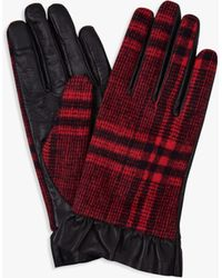 Hobbs - Mia Check Leather Gloves - Lyst