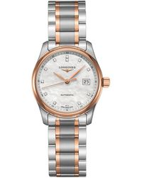 Longines - L22575897 Women's Master Collection Automatic Date Diamond Two Tone Bracelet Strap Watch - Lyst