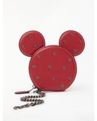 COACH - Disney X Minnie Leather Coin Purse - Lyst