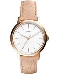 Fossil - Es4185 Women's Neely Leather Strap Watch - Lyst
